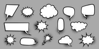 Big set empty speech bubble comic text Stock Images