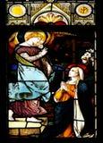 Announciation (gebrandschilderd glasvenster) royalty-vrije stock fotografie