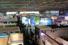 View of Hall 13 on March 9, 2013 at CEBIT computer expo Royalty Free Stock Photography