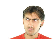 Annoyed. A portrait of an annoyed man royalty free stock photos