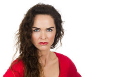 Annoyed angry woman Royalty Free Stock Photos