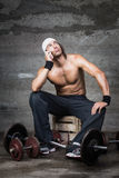 Annoyed bodybuilder Stock Photos