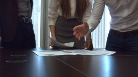 Annoyed business worker throwing a pile of documents stock video
