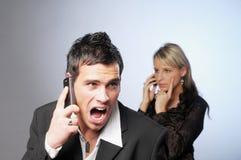Annoyed businessman Stock Photography