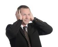 Annoyed businessman Royalty Free Stock Image