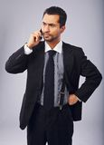Annoyed Businessman on the Phone Royalty Free Stock Photo