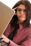 Annoyed businesswoman Stock Images