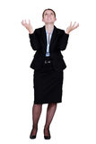 Annoyed businesswoman Royalty Free Stock Photo