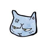 Annoyed cat cartoon Royalty Free Stock Photos