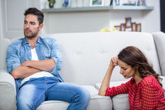 Annoyed couple after argument Stock Photos