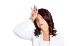 Annoyed cute princess middle aged woman Stock Image