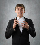 Annoyed emotional man is fly into a rage Royalty Free Stock Photo