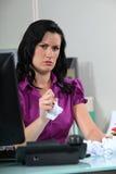 Annoyed employee Royalty Free Stock Photo
