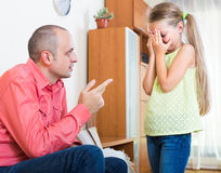 Annoyed father and child Royalty Free Stock Photos