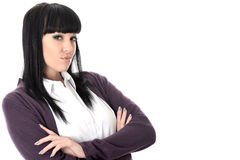 Annoyed Fed Up Irritated Smug Woman with Attitude Royalty Free Stock Photos