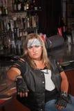 Annoyed Female Gang Member Stock Images