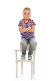Annoyed girl child Stock Image