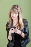 Annoyed Girl On Phone Royalty Free Stock Image