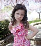 Annoyed little girl Royalty Free Stock Image