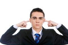Annoyed man Stock Photo