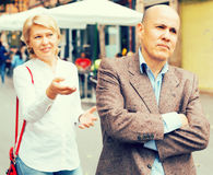 Annoyed mature man Stock Images