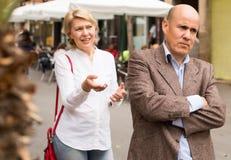 Annoyed mature man Stock Photo