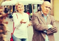 Annoyed mature man Royalty Free Stock Photo