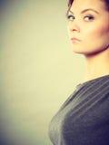 Annoyed nervous woman portrait. Stock Images