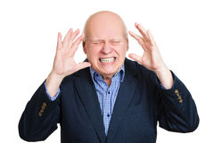 Annoyed old man Royalty Free Stock Images
