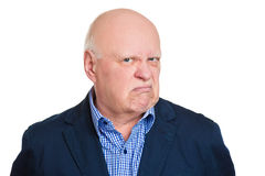 Annoyed old man Stock Photography