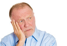 Annoyed older man Stock Photos