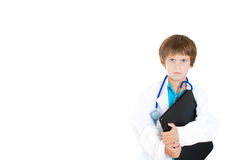 Annoyed and pissed off child doctor Royalty Free Stock Images