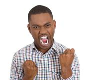 Annoyed pissed off man yelling Royalty Free Stock Photography