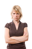 Annoyed woman Royalty Free Stock Photography