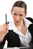 Annoyed woman Stock Photography