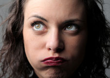 Annoyed woman Royalty Free Stock Photos