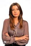 Annoyed woman stock image