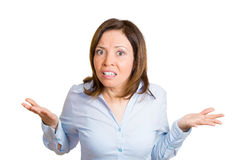 Annoyed woman Stock Image