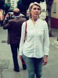 Annoyed woman man back Stock Photos