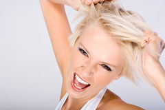 Annoyed woman Royalty Free Stock Image