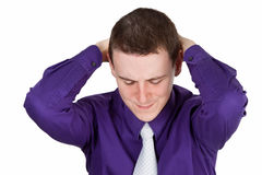 Annoyed young man Royalty Free Stock Photography