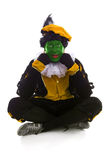 Annoyed Zwarte piet ( black pete) typical Dutch character Stock Image