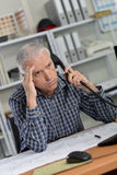 Really annoying customer on phone. Really annoying customer on the phone royalty free stock images