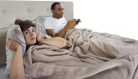 Annoying Gamer Boyfriend Royalty Free Stock Photos
