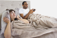 Annoying Gamer Boyfriend Royalty Free Stock Photography