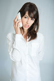 Annoying phone call Stock Photography