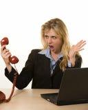Annoying phone call stock photos