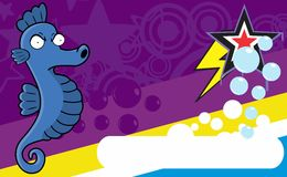 Annoying Seahorse expression cartoon background Royalty Free Stock Photos