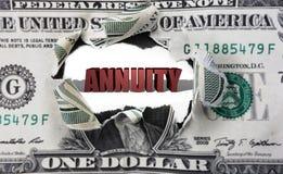 Annuïteit en dollar Stock Afbeelding