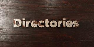 Annuaires - titre en bois sale sur l'érable - image courante gratuite de redevance rendue par 3D illustration libre de droits